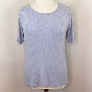 LulaRoe Powder Blue Short Sleeve Blouse